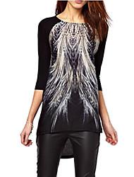 Beila Women's Floral Print Leisure T shirt