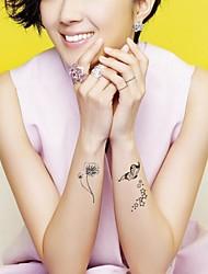 Tatuajes Adhesivos - Modelo - Series de Animal - Mujer/Girl/Adulto/Juventud - Multicolor - Metal - #(1) - #(26CM*10.8CM)