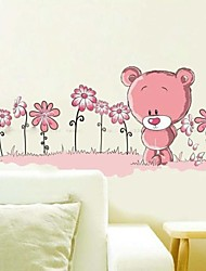 Wall Stickers Wall Decals, Lovely Bear PVC Wall Stickers
