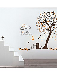 Wall Stickers Wall Decals, Style Love Cat PVC Wall Stickers