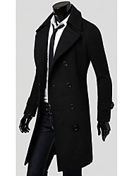 Big Fashion Men's Double Button Tweed Coat