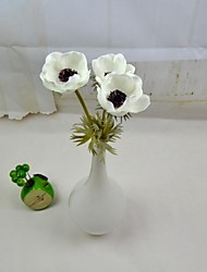 """Modern Artificial Flowers 3 Pieces/Lot White Red Yellow Purple Anemone Stem 15.7"""" for Home and Party Decoration"""