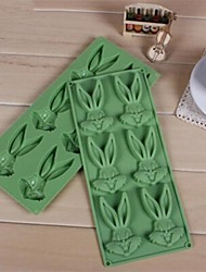 6 Hole Little Rabbit Shape Cake Mold