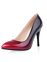 Women's Spring Summer Fall Patent Leather Dress Stiletto Heel Black Brown Red Orange