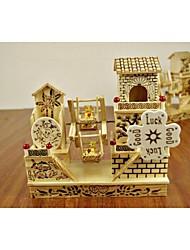 деревянная вилла дизайн мельница музыкальные шкатулки