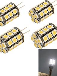 G4 Bombillas LED de Mazorca 27 SMD 5050 280 lm Blanco Fresco Decorativa DC 12 / AC 12 V 4 piezas