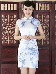 женская старинные тонкий китайский стиль мини-платье