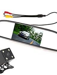 4,3 Zoll 480 x 272 Farben TFT-LCD-Bildschirm digitale Auto Rückspiegel Monitor mit 420 TV-Linien Nachtsichtkamera