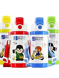 350ML Strap Stainless-steel Heat Preservation Children Kettle Drinking Cup (Red, Blue, Yellow, Green Straps)