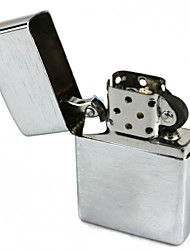 Metal Wire Drawing Silver Oil Lighter Kerosene