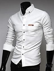 moda camisa de cor sólida dos homens sportstreet