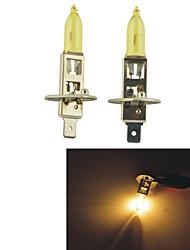 Carking™ HOD H1 100W 2800K Ultra Bright Car Yellow Light Bulbs (DC 12V/Pair)