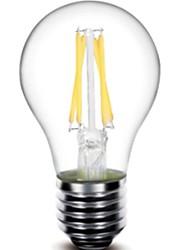 5W E26/E27 Lampadine LED a incandescenza G60 4 COB 440 lm Bianco caldo Intensità regolabile / Decorativo AC 220-240 V