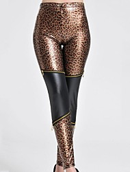 vita alta leggings leopardo delle donne