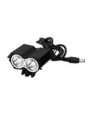 fiets zwart met licht koplamp sport zaklamp professionele dark knight k2d 2 geleide usa cree xml-T6 2400lm