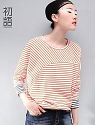 Women's Blue/Orange T-shirt Long Sleeve