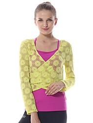 Yoga Tops / Camiseta Pantalones + Tops Transpirable / Capilaridad Inelástica Ropa deportiva Mujer - Yokaland Yoga / Pilates / Fitness