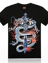 Zhengmao Men's Short Sleeve 3D Printing T-Shirts
