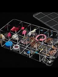 scatola / desktop canzoncina-borsa coperta trasparente piccola griglia - 18 piazze