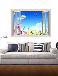 Adesivos de parede adesivos de parede 3D, flores silvestres parede decoração adesivos de vinil