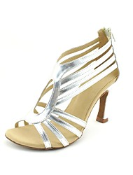 Customizable Women's Dance Shoes Latin/Salsa Leatherette Customized Heel Black/Blue/Pink/Red/Silver/Gold