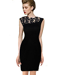 Belt Women's Round Neck Dress