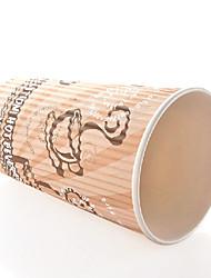 escaldadura descartável prevenção copo de café, 16 onças, 100pcs / bag