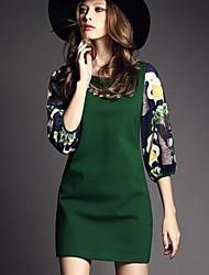 Frauen Shirt Scoop Neck eleganten Kleid (weitere Farben)