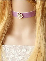 Snow Pearl Diamond Velvet Sailor Moon Lolita Collar Necklace