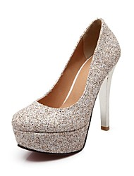 Women's Shoes Glitter Stiletto Heel Round Toe Pumps Shoes Dress More Colors available