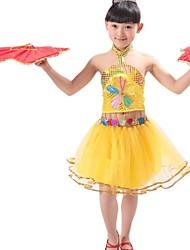 mode belle danse moderne vêtements ensemble des filles (y compris une coiffure)