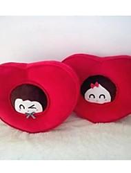 Gli amanti a forma di romanzo di cuore braccio cuscino-set di 2