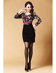 dlbn vestido bodycon impresión de la moda de las mujeres