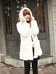 Women's Coats & Jackets , Faux Fur Casual Mingshi