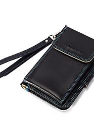 BOSTANTEN Men's Top Split Leather Snap and Buckle Wallet