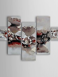 Oil Painting Modern Abstract Charm of Flowing Set of 4Hand Painted Canvas with Stretched Frame