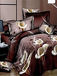 conjunto funda de edredón, ropa de cama de la impresión 3d edredón edredones queen size hoja de ropa de cama edredón edredón colcha