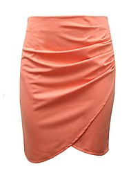 Women's Blue / White / Black / Orange Skirts,Sexy Knee-length