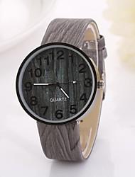 des femmes chiffres arabes numérique table ronde couleur pure bracelet de montre en teck c&D-349