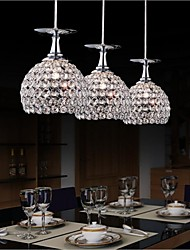 3 Pendant Light ,  Modern/Contemporary Globe Electroplated Feature for LED CrystalDining Room Kitchen Study Room/Office Kids Room Game