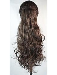 Clip di 16 pollici donne ponytails lunghi ondulate