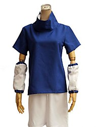 Inspired by Naruto Sasuke Uchiha Anime Cosplay Costumes Cosplay Suits Color Block Blue Short Sleeve Top / Shorts