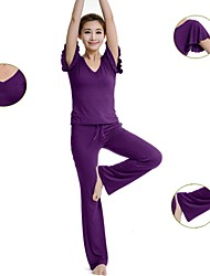 Women's Yoga Suits Sleeveless Quick Dry / Antistatic / Wicking / Limits Bacteria Black / Dark Purple / Light purple Yoga S / M / L / XL