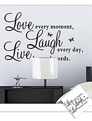 stickers muraux stickers muraux, mots anglais d'amour en direct&cite muraux PVC autocollants