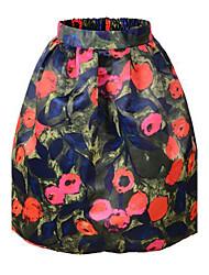 impresión coreano delgado faldas de las mujeres