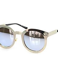 100% UV400 Round Alloy Retro Sunglasses