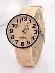 des femmes chiffres arabes numérique table ronde couleur pure bracelet de montre en teck c&D-347