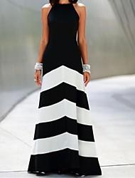 kvinnors krage färgblock klänning