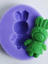 One Hole Bunnies Shaped Fondant Cake Chocolate Mold