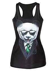 Women's Vest , Cotton Blends Sleeveless